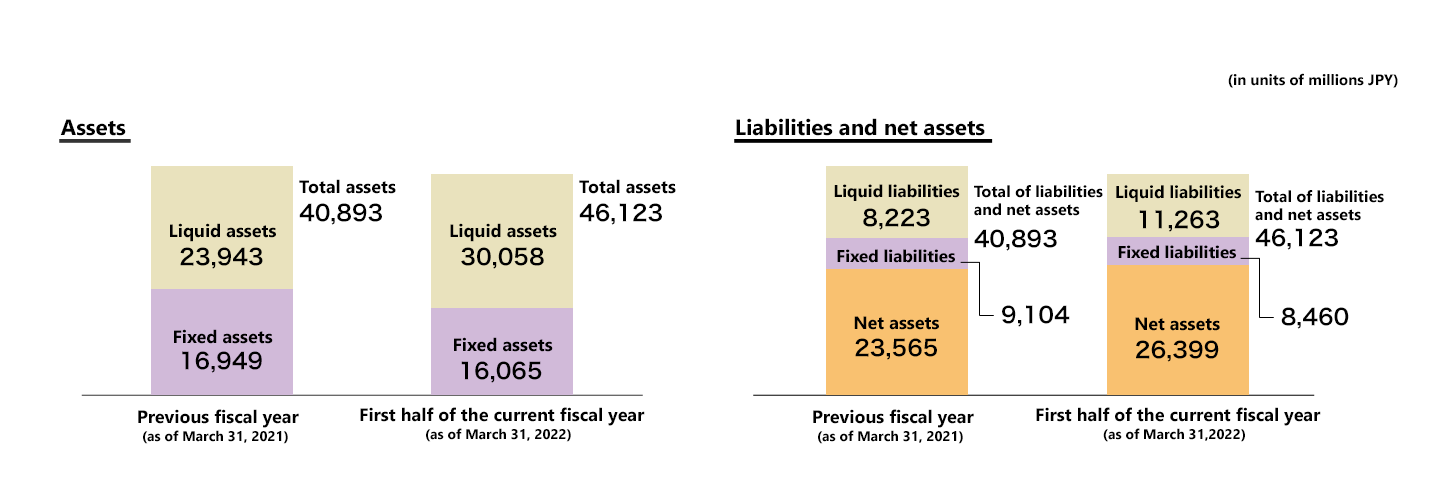 Consolidated balance sheet summary